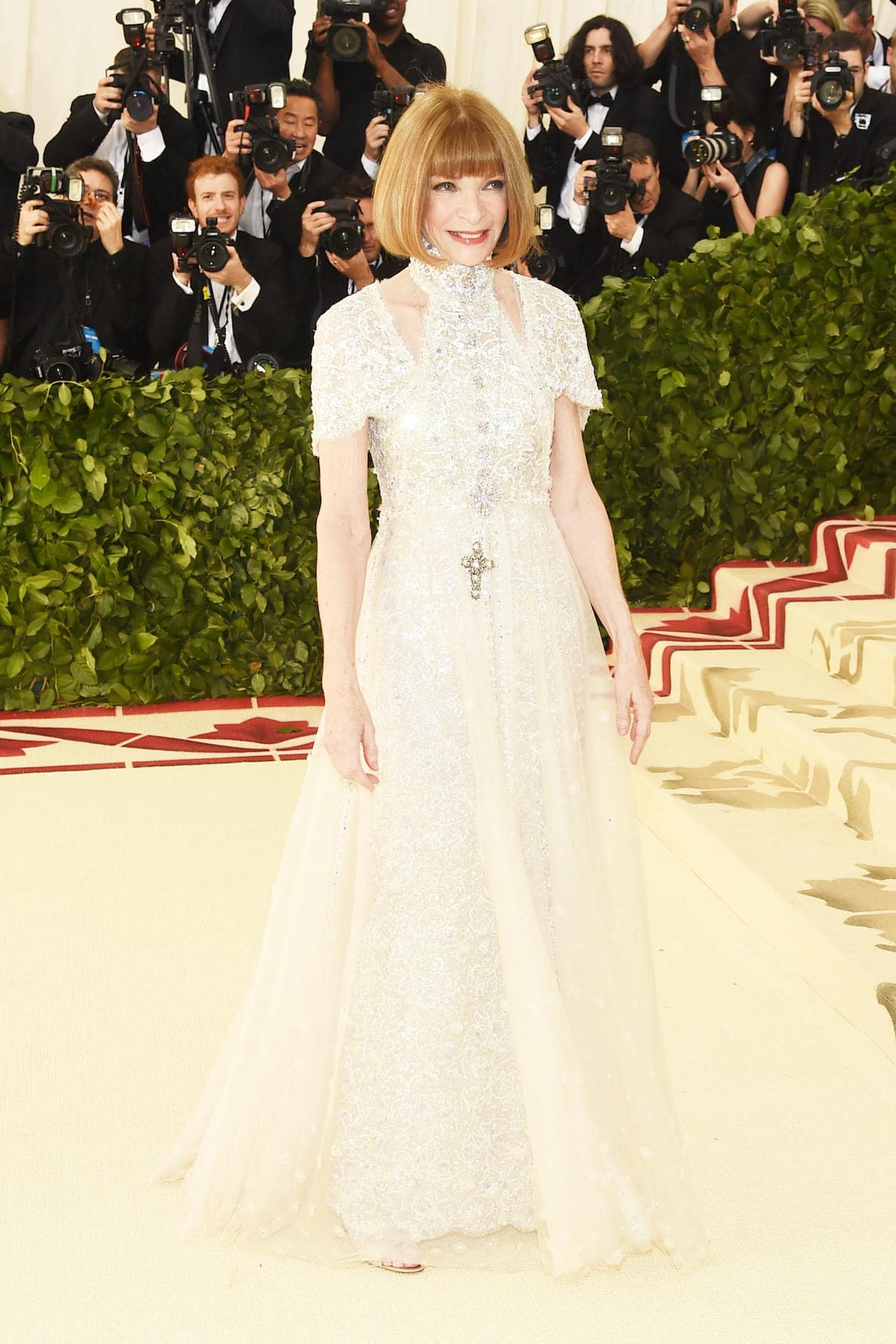 Anna Wintour in Chanel at The Met Gala