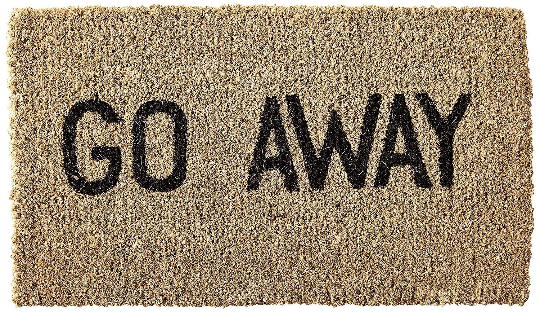 Kempf Go Away Doormat, $17.95