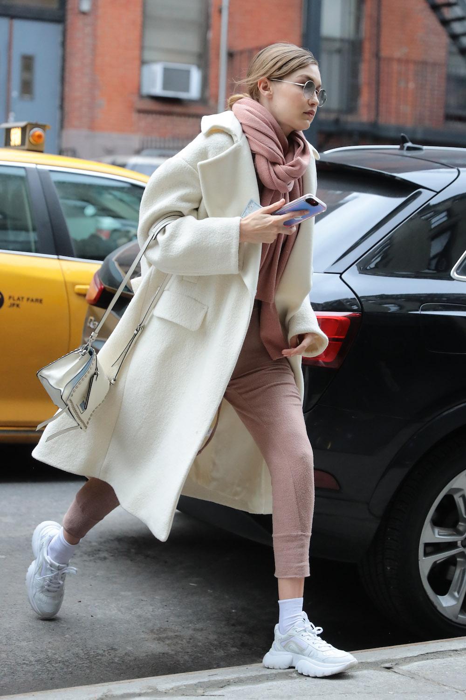 Gigi Hadid wearing Maje