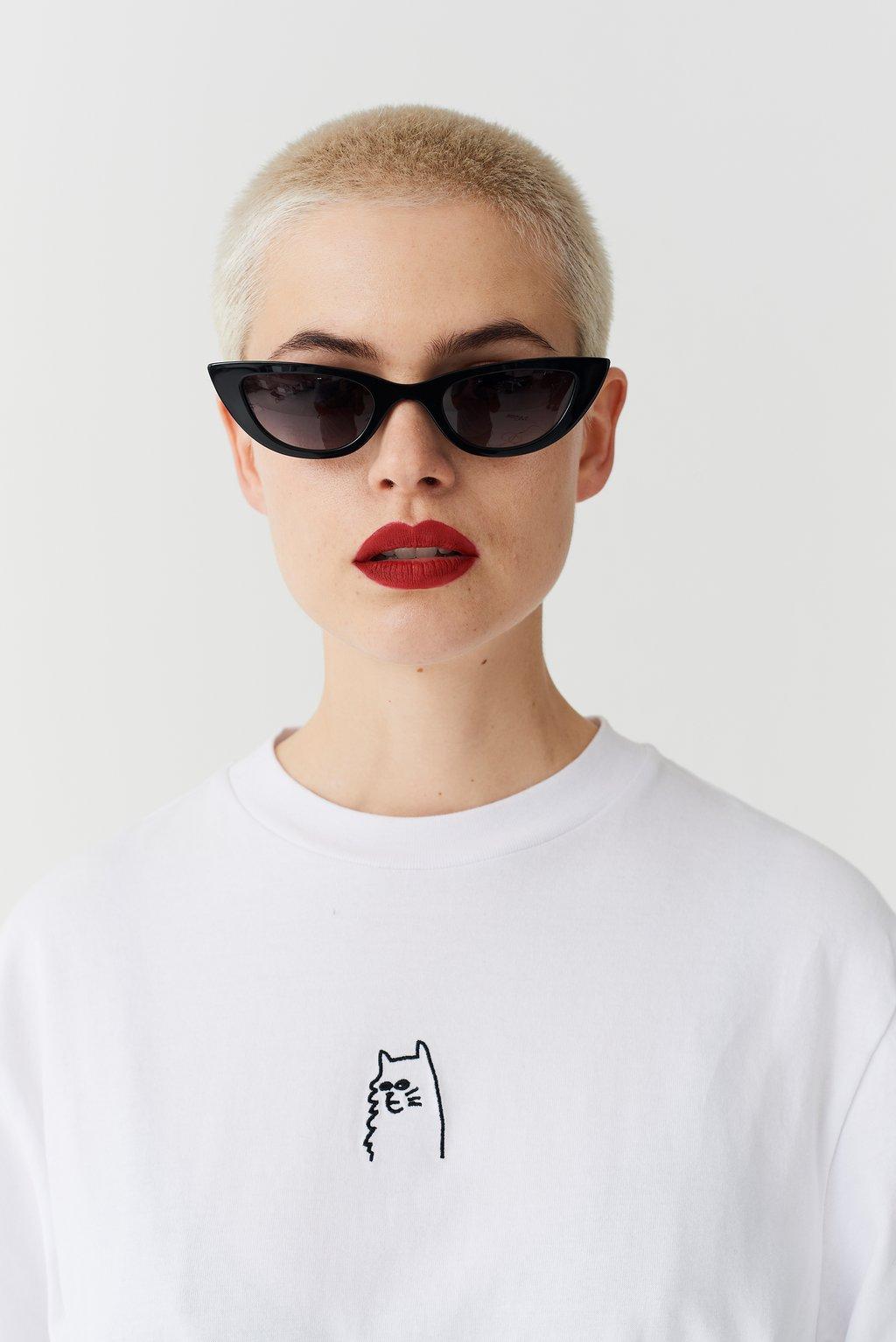 Lazy Oaf I Prefer Cats T-shirt, US$42.87