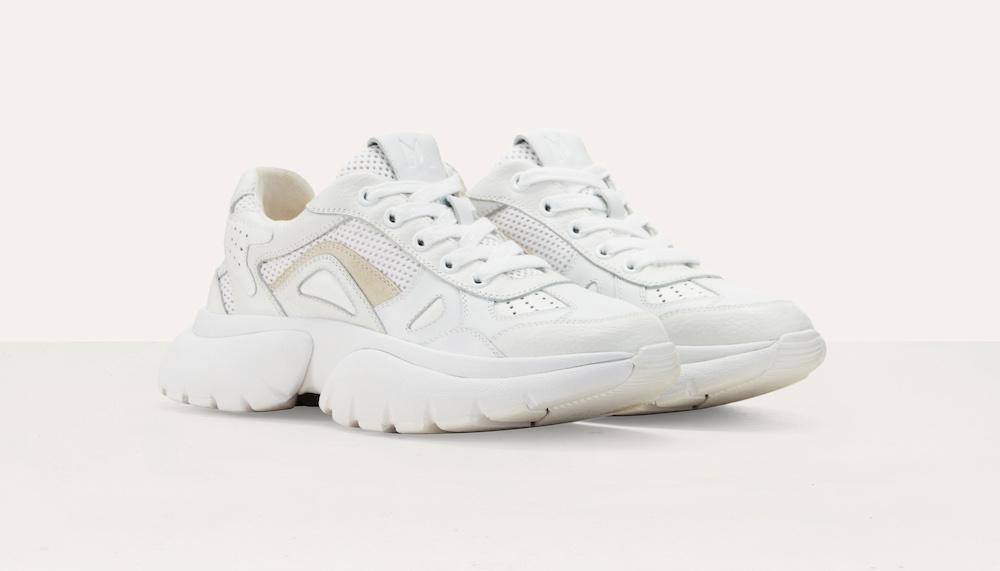 Maje Faster W20 Urban Leather Sneakers ($520)