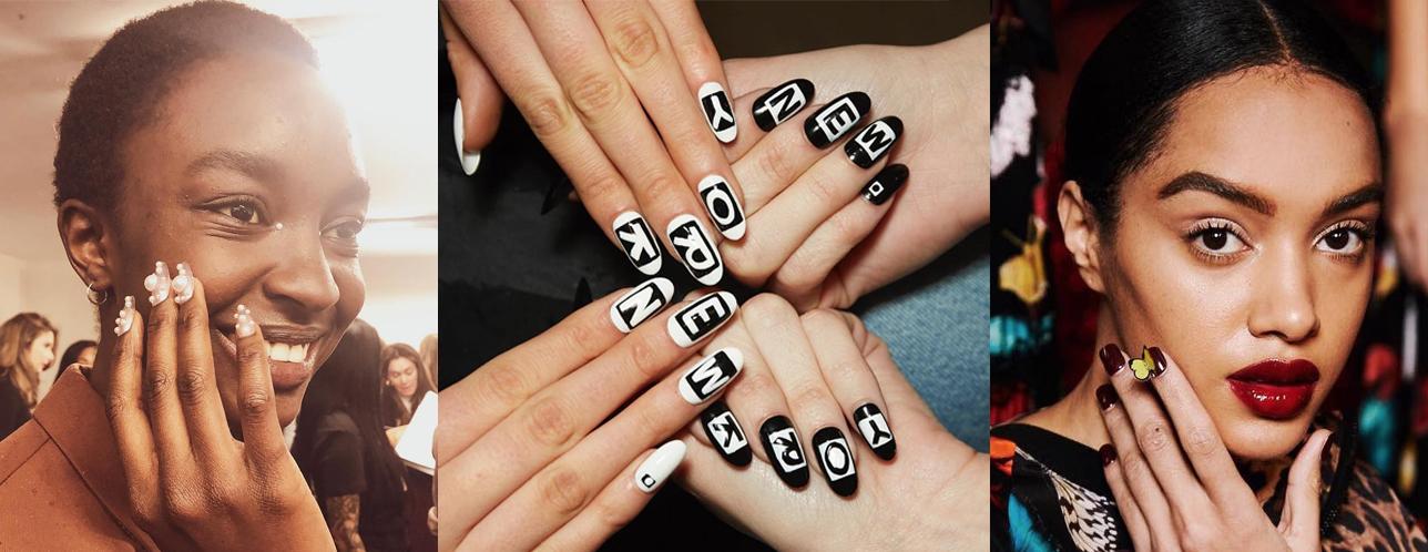 nyfw 2019 nail art