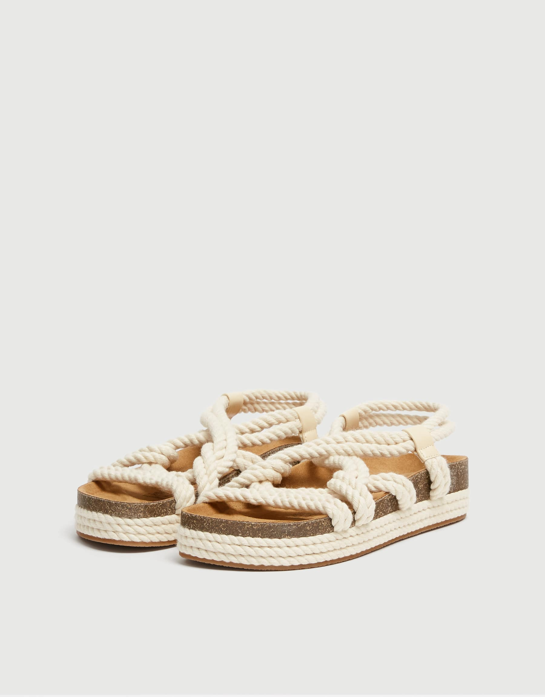 Sadie Sink By Pull&Bear Natural Sandals, $69.90