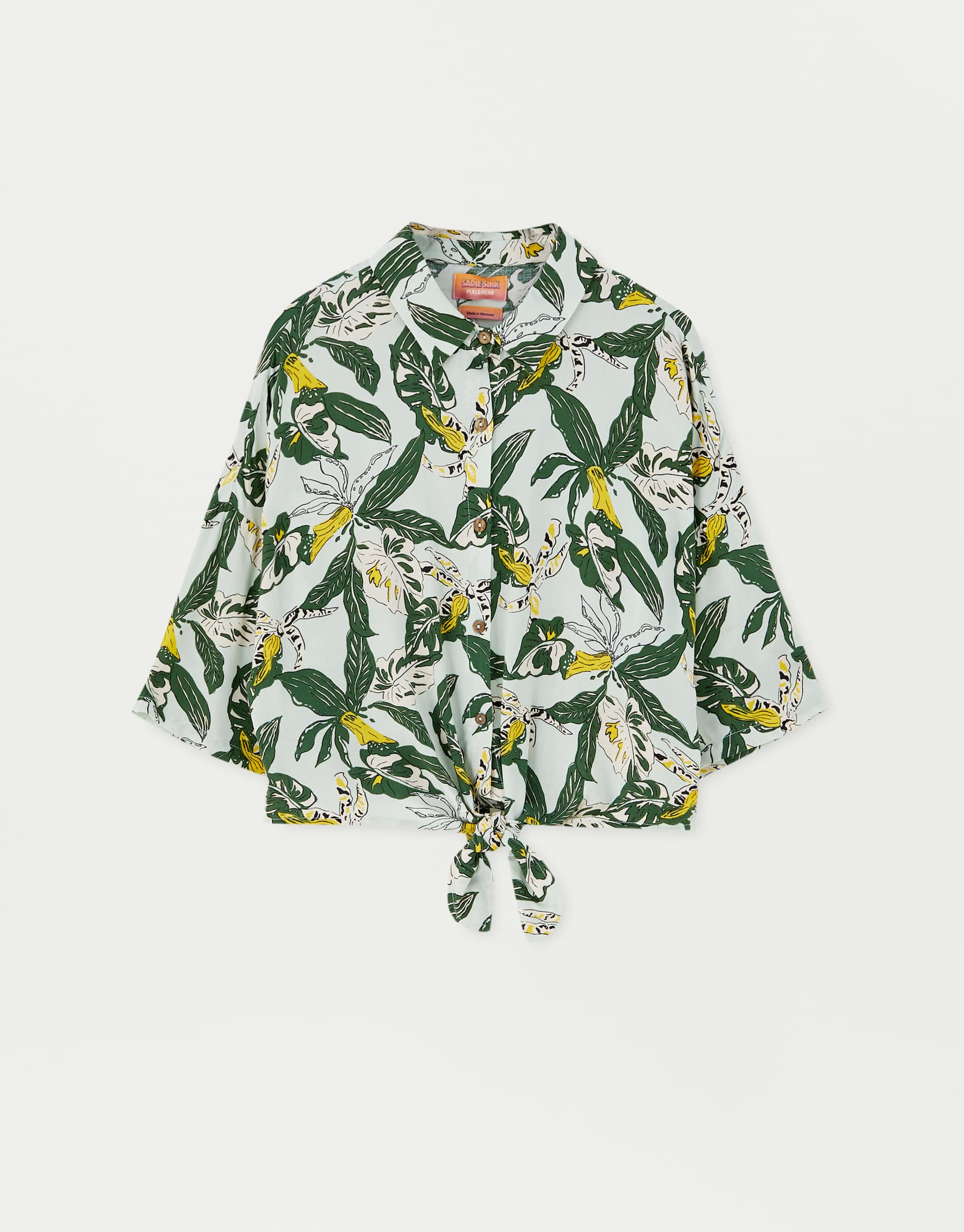Sadie Sink Leaf Print Shirt, $45.90