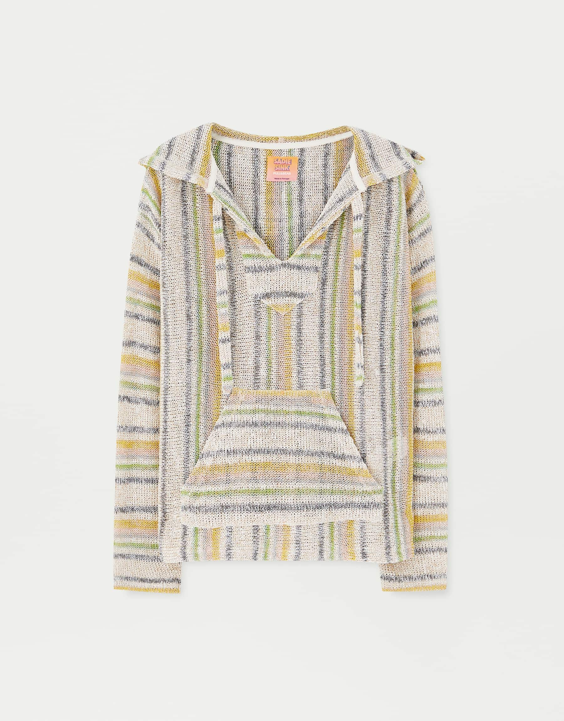 Sadie Sink Djellaba-Style Sweater, $59.90