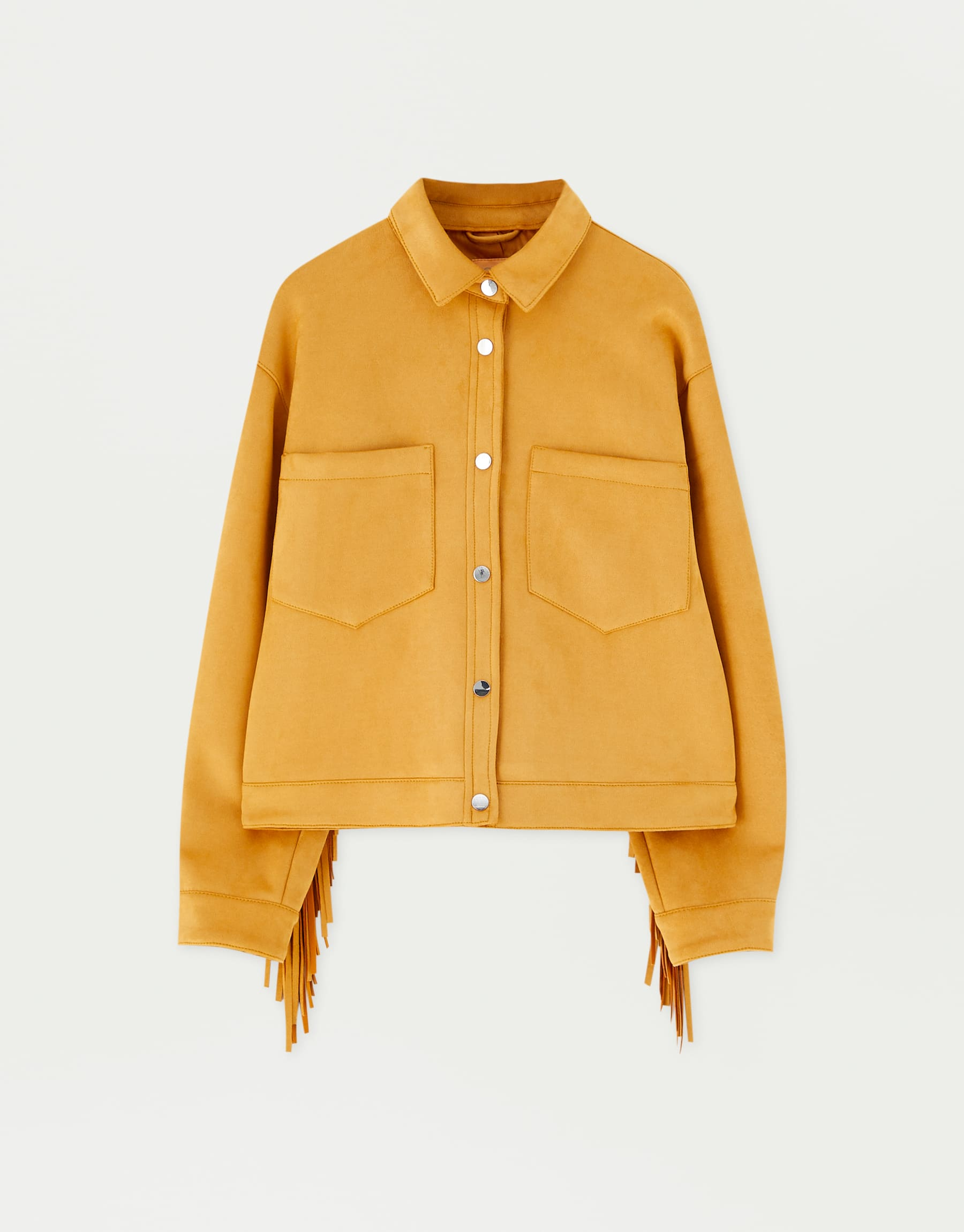 Sadie Sink By Pull&Bear Fringed Faux Suede Jacket, $89.90
