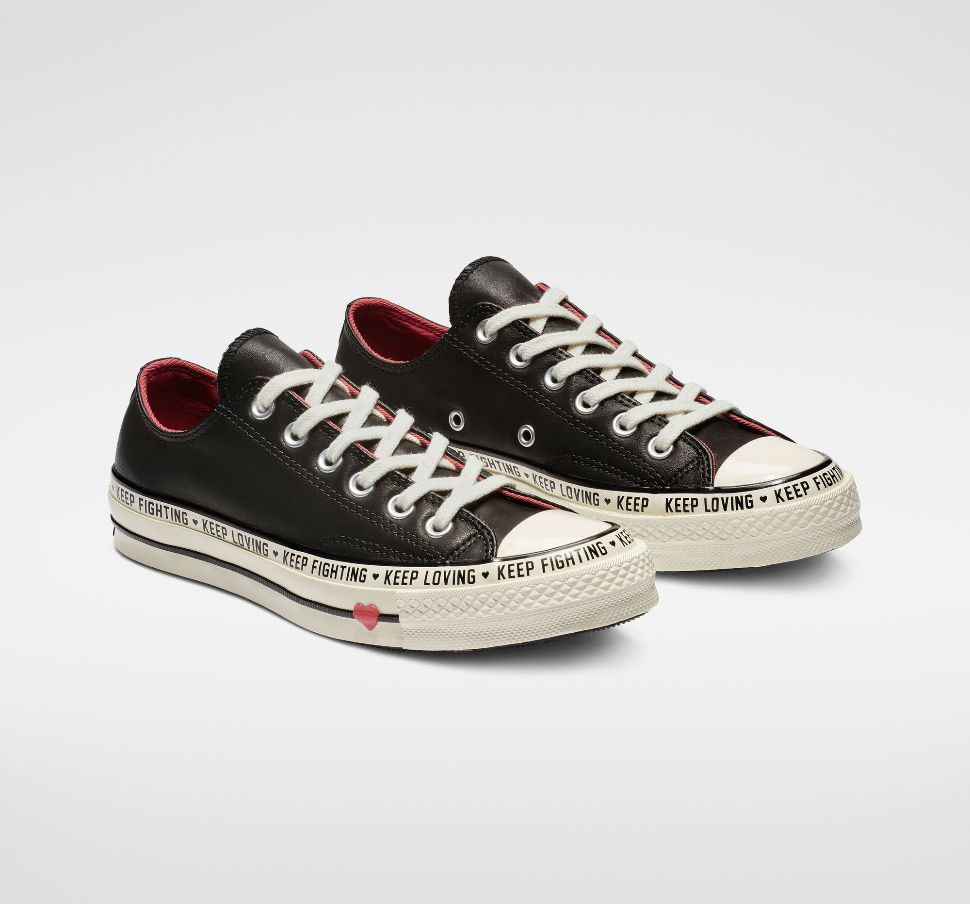 Chuck 70 Love Graphic Low Top in Black/Sedona Red/Egret