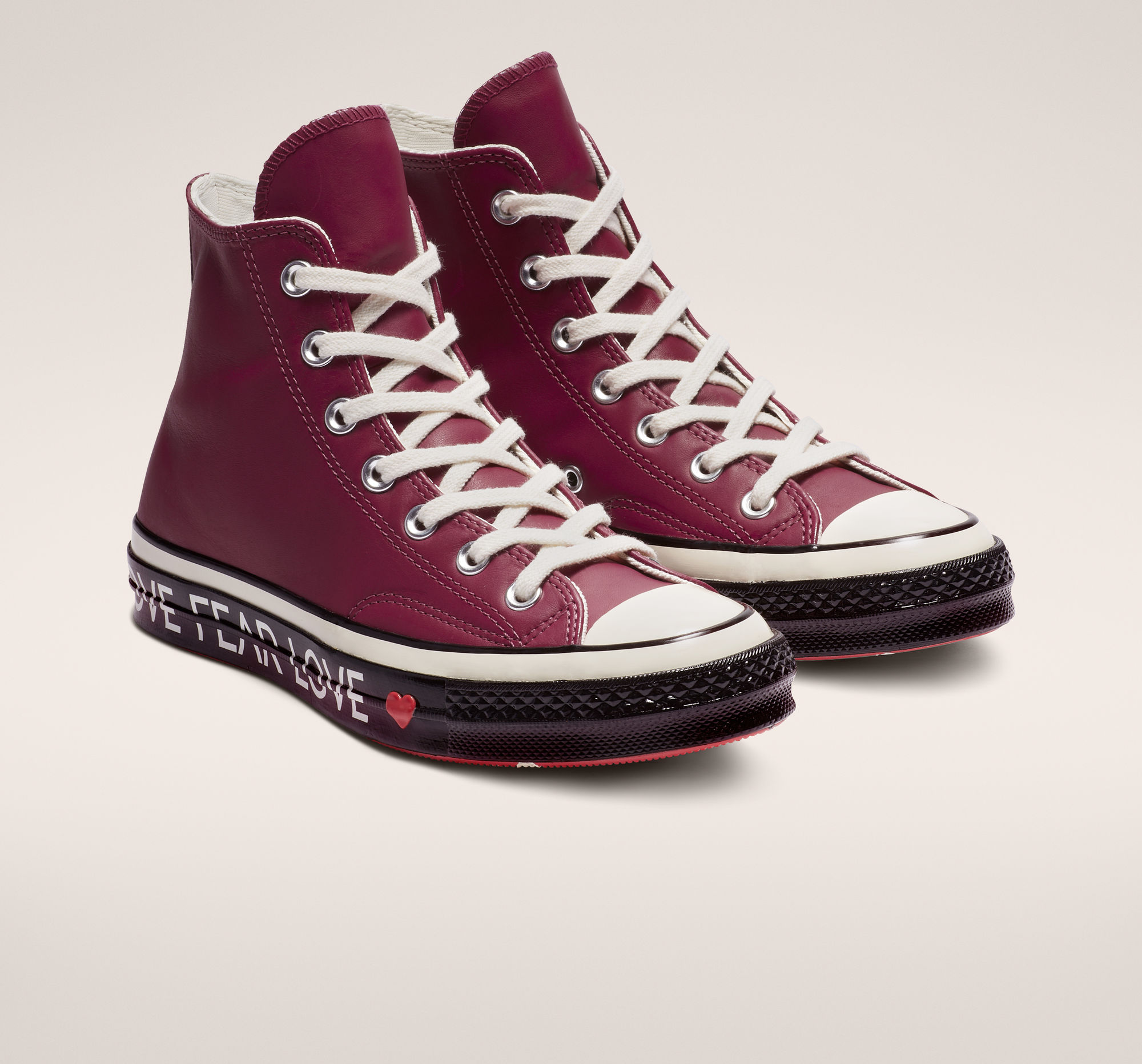 Chuck 70 Love Graphic High Top in Rhubarb/Egret/Black