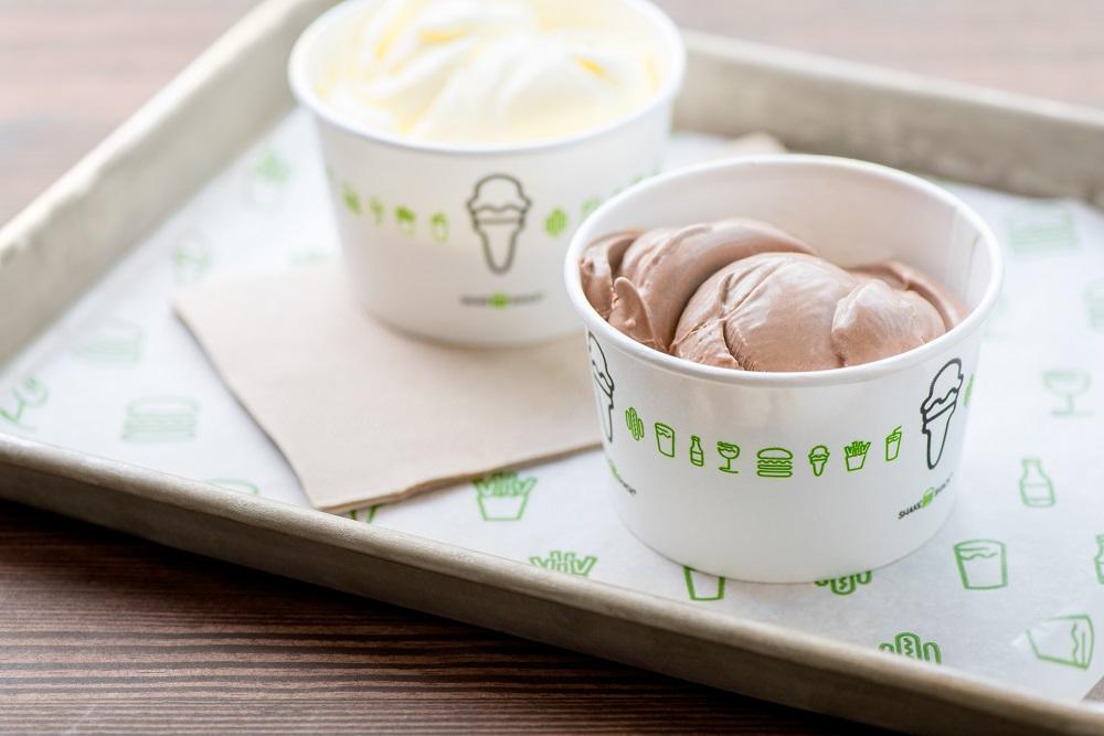 Vanilla and Double Chocolate Custard Cups