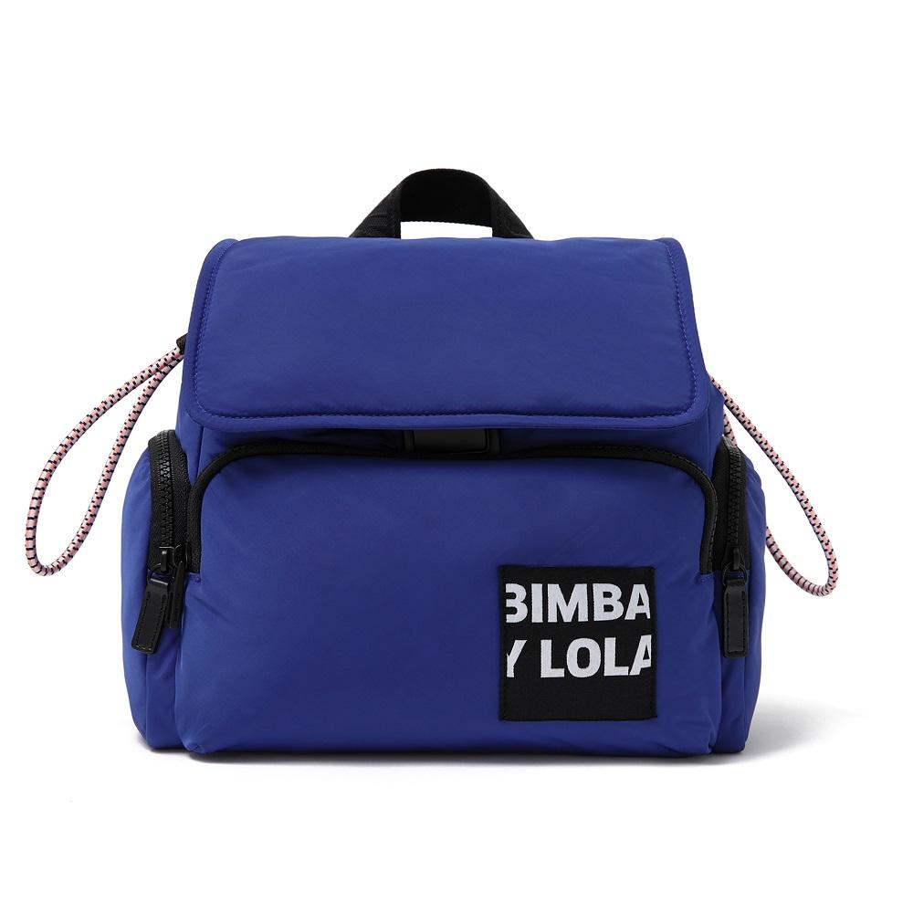 Blue Flap Backpack, $315