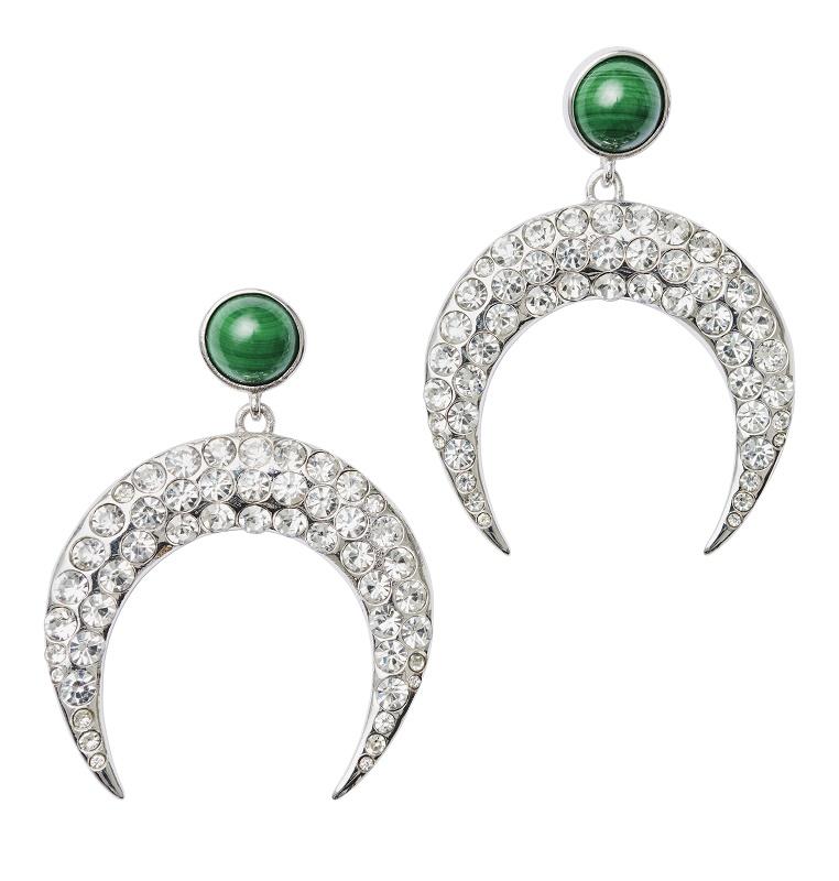 Bejeweled Curve Earrings, $94.95