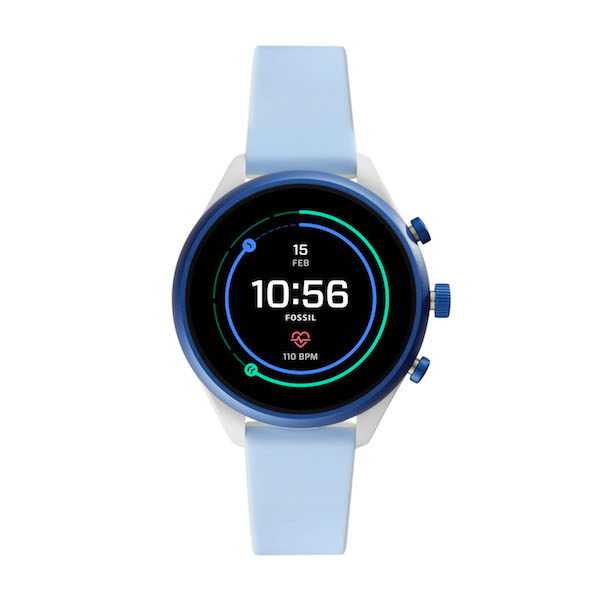 Fossil Sport Smartwatch in Light Blue ($489)