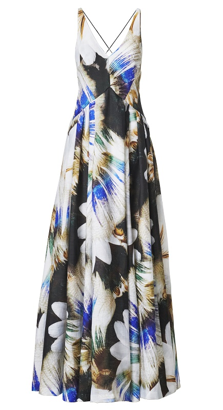 Floral Cross Back Dress, $349