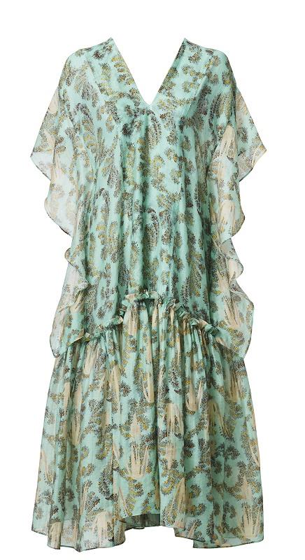 Green Kaftkan Dress,$249