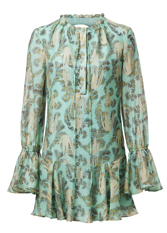 Green Printed Dress, $159