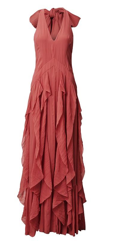 Pink Ruffle Dress, $249