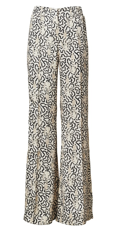 Printed Flare Trousers, $139