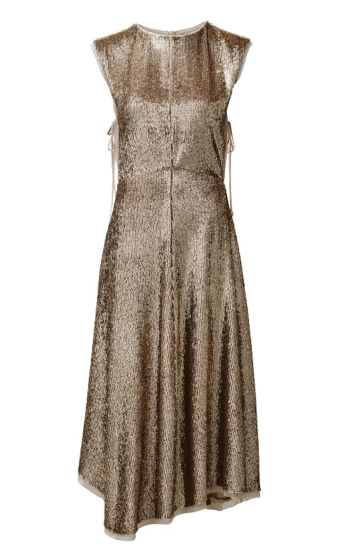 Rose Gold Sequin Dress, $399