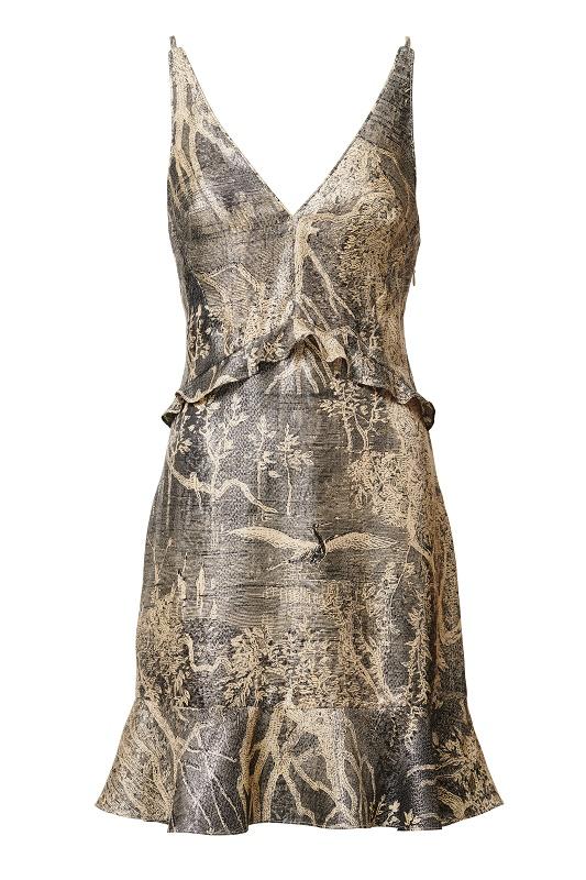 Sleeveless Printed Dress, $119