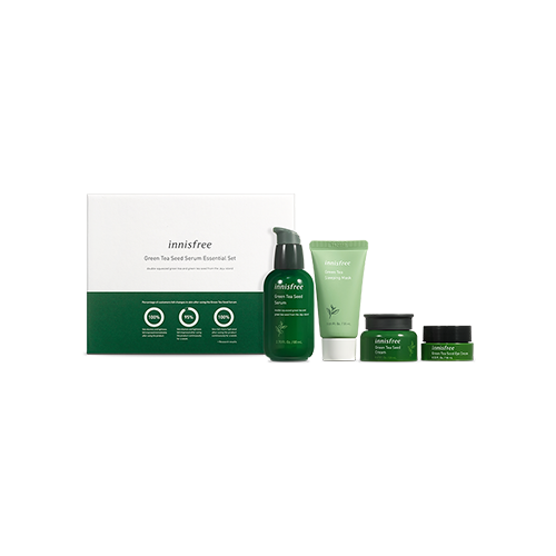 Green Tea Seed Serum Essential Set, $37 (includes Green Tea Seed Serum (80ml), Green Tea Sleeping Mask (30ml), Green Tea Seed Cream (20ml), Green Tea Seed Eye Cream (10ml))