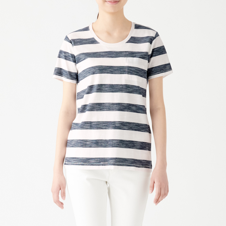 Ladies' Organic Cotton Uneven Yarn Short Sleeve T-shirt, Less 10% (U.P. $19.90)