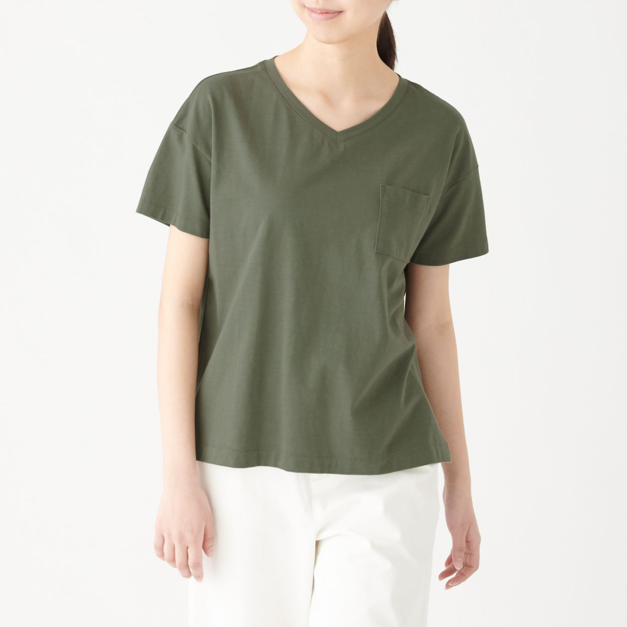 Ladies' Organic Cotton Uneven Yarn Wide T-shirt, Less 10% (U.P. $19.90)