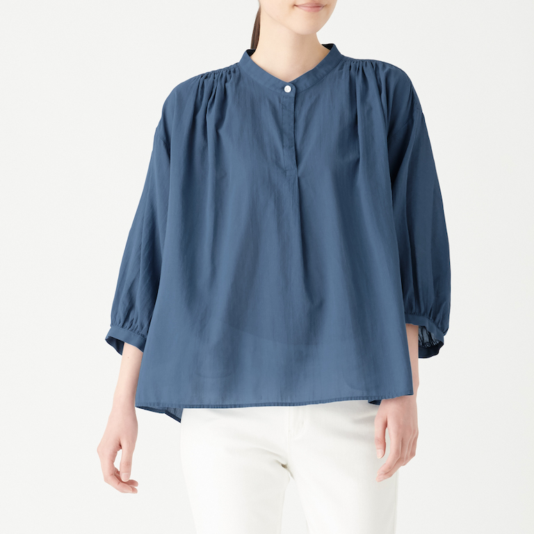 Organic Cotton High Twisted ¾ Sleeve Blouse. Less 10% U.P. $39