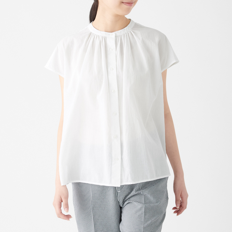 Organic Cotton High Twisted French Sleeve Blouse. Less 10% U.P. $39