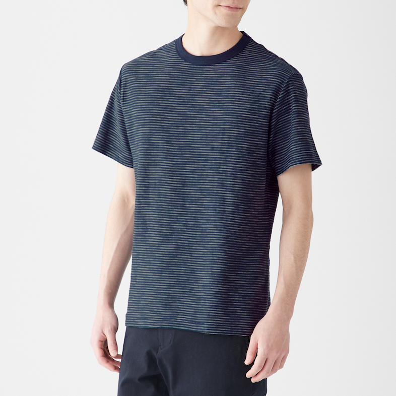 Men's Organic Cotton Uneven Yarn Short Sleeve T-Shirt, Less 10% (U.P. $19.90)