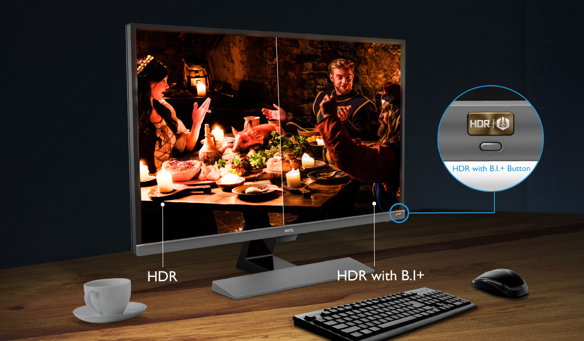 Maximise your visual enjoyment with HDR and B.I+ with a touch of a button.