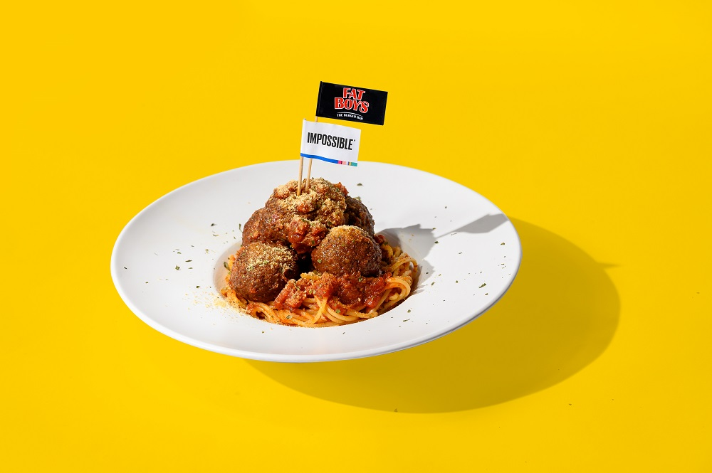 The Impossible™ Meatball Spaghetti from Fatboy's the Burger Bar