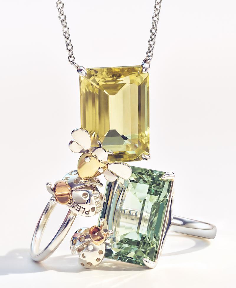 Bottom: Return to Tiffany Love Bugs Green Quartz Ladybug Ring ($2,250)