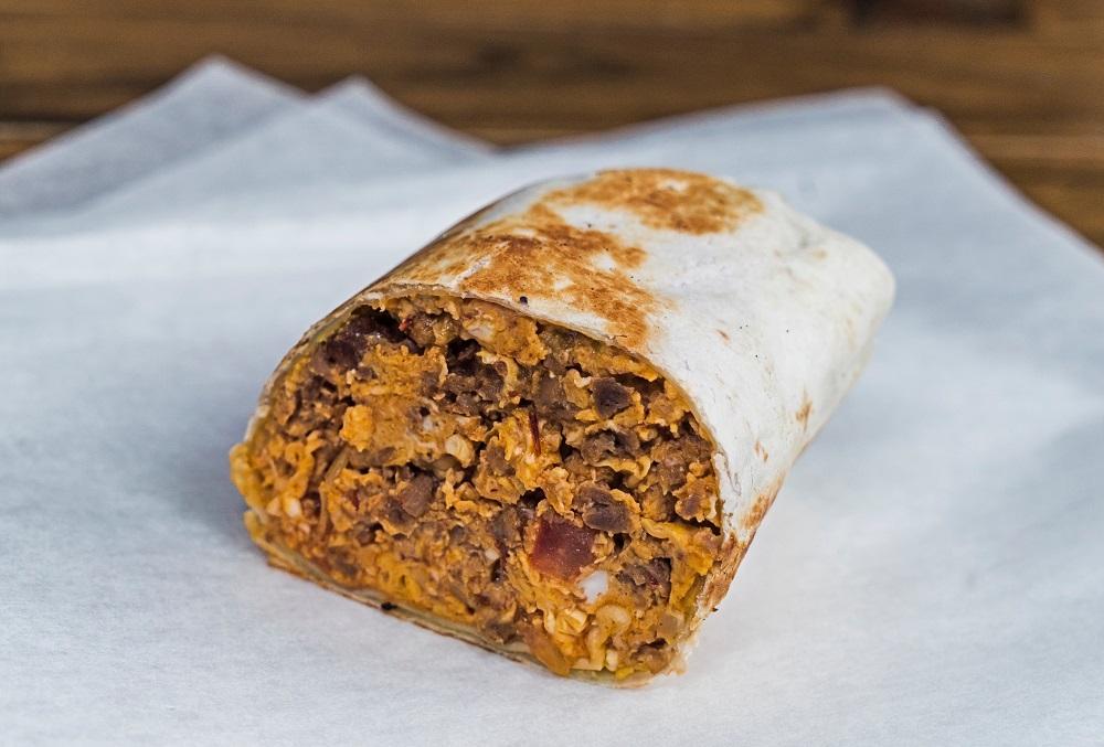 10am to 11.30am: Oriole's Breakfast Burrito with Impossible™ Chilli Con Carne(half): Scrambled egg, Impossible™ chilli con carne and cheese wrapped in tortilla