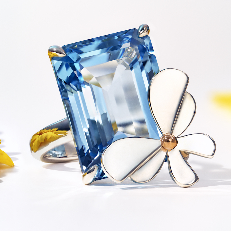 Return to Tiffany Love Bugs Blue Topaz Butterfly Ring ($2,400)
