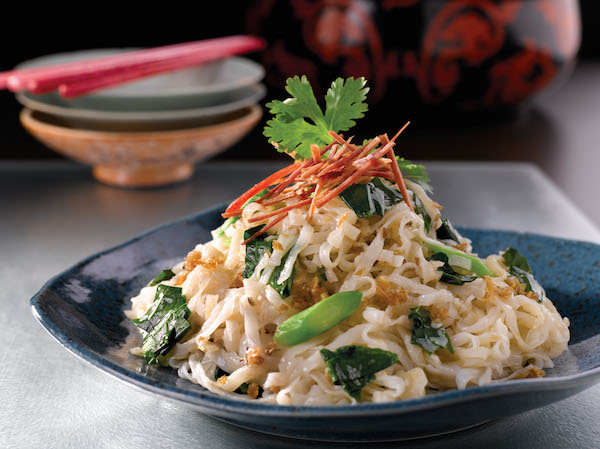 Wok Fried Kway Teow with Diced Kai Lan