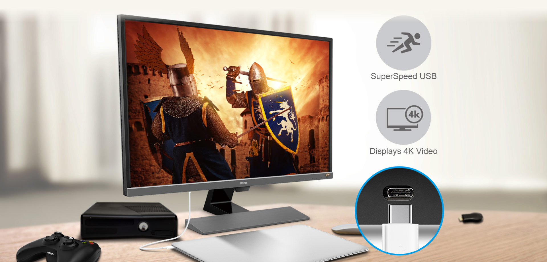 Perfect for streaming console games and UHD content in crisp 4K display