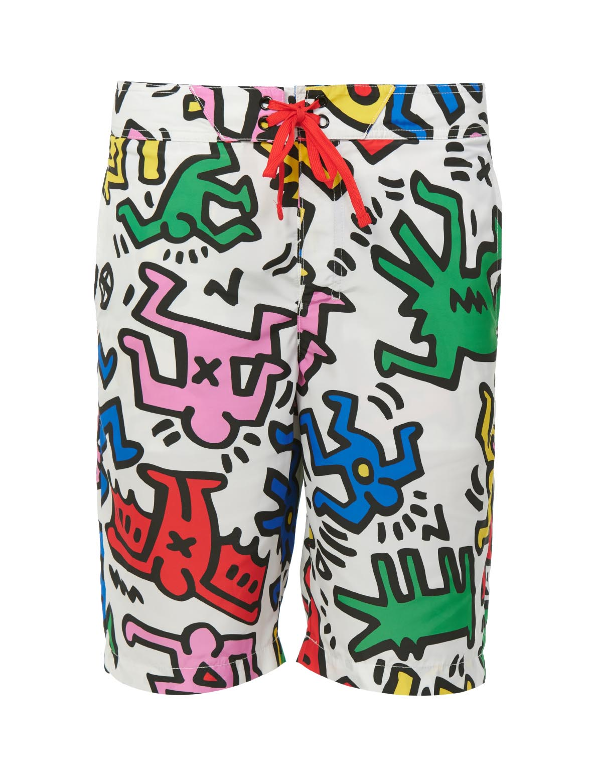 Allover Colorful Print Board Shorts (Front) - $259