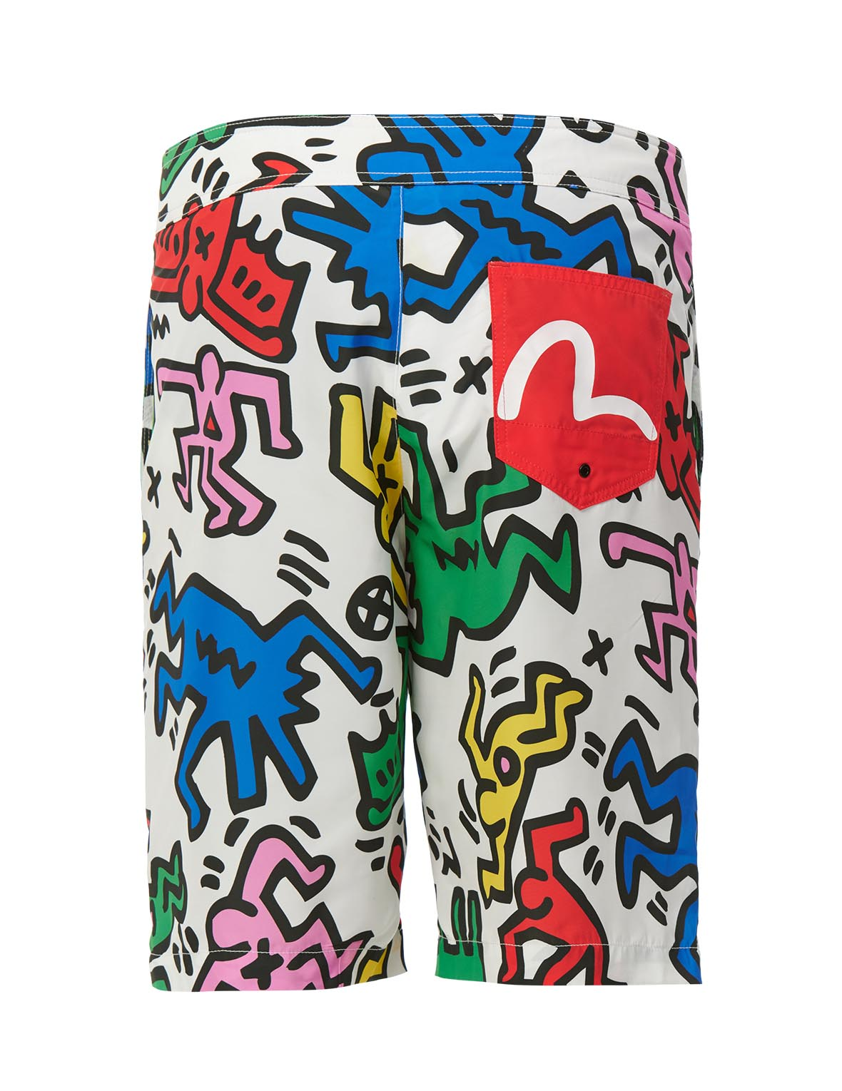 Allover Colorful Print Board Shorts (Back) - $259