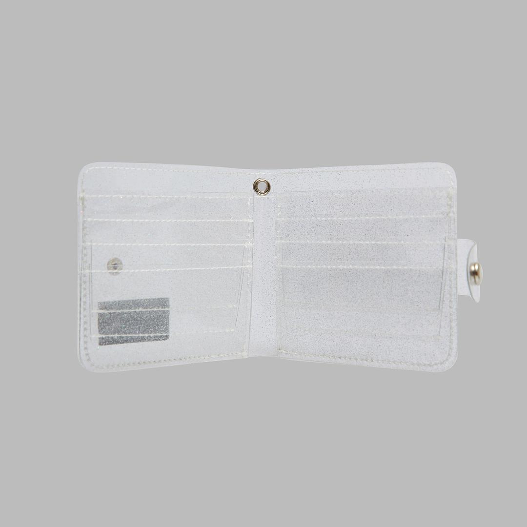 Twinkle Jelly Wallet in White