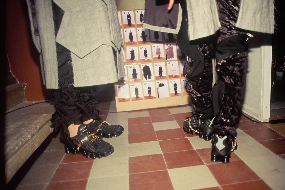 Comme des Garçons x Nike Shox TL in Triple Black