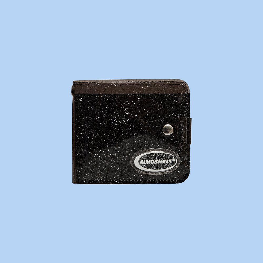 Twinkle Jelly Wallet in Black