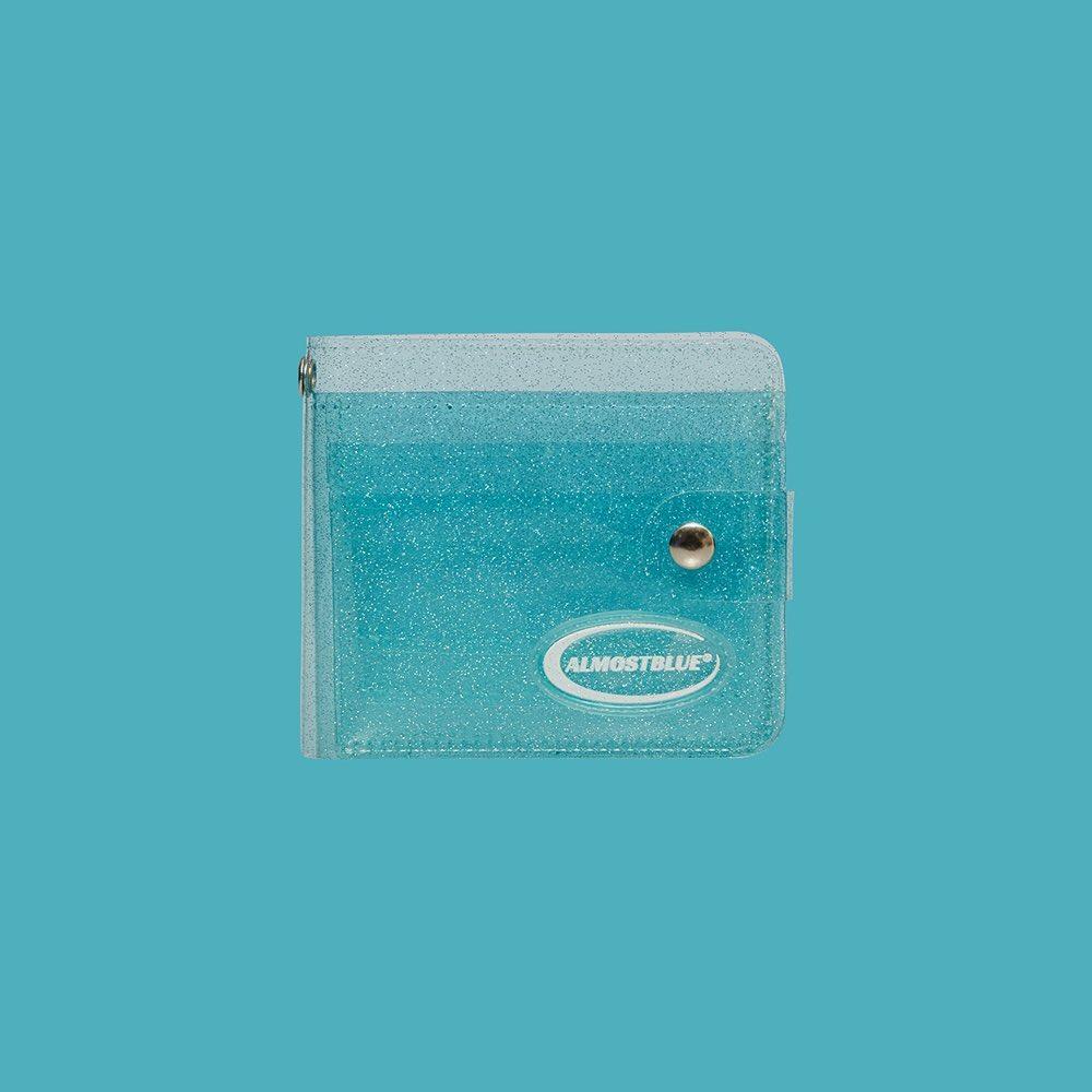 Twinkle Jelly Wallet in Aqua Blue