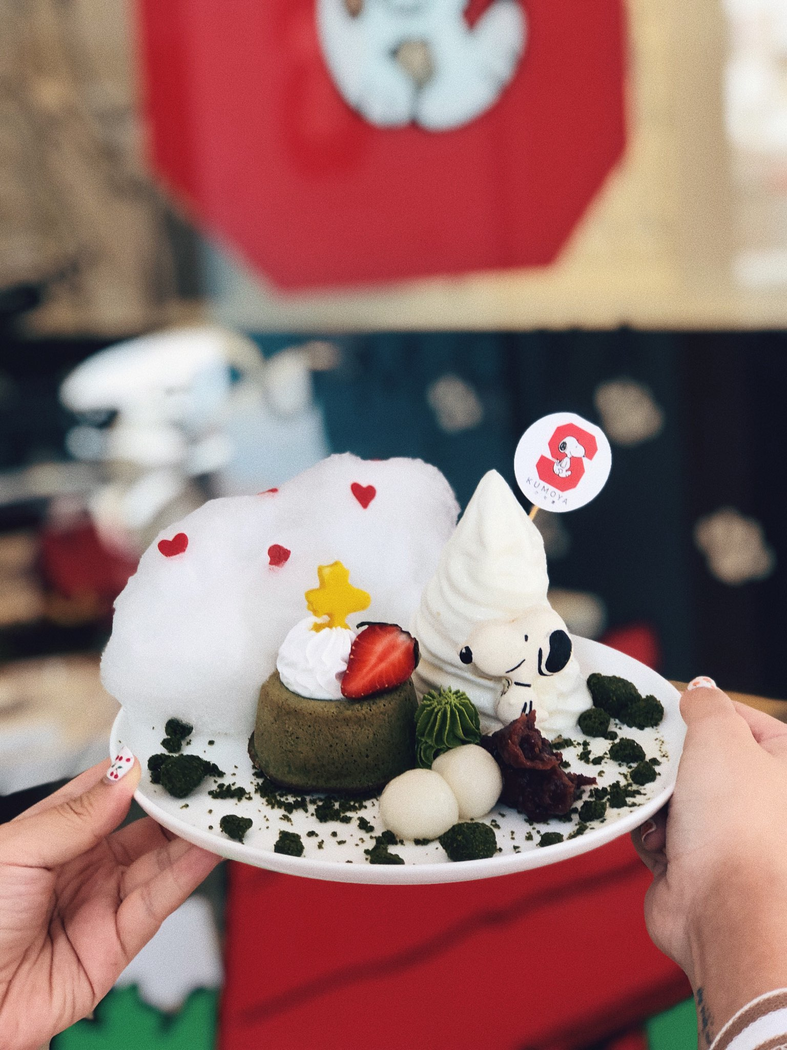 Snoopy Matcha Madness Azuki Lava Cake ($17.90)