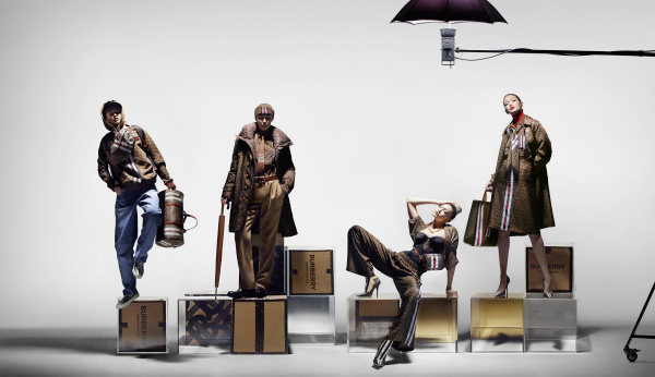 Burberry Monogram collection campaign, starring Gigi Hadid.