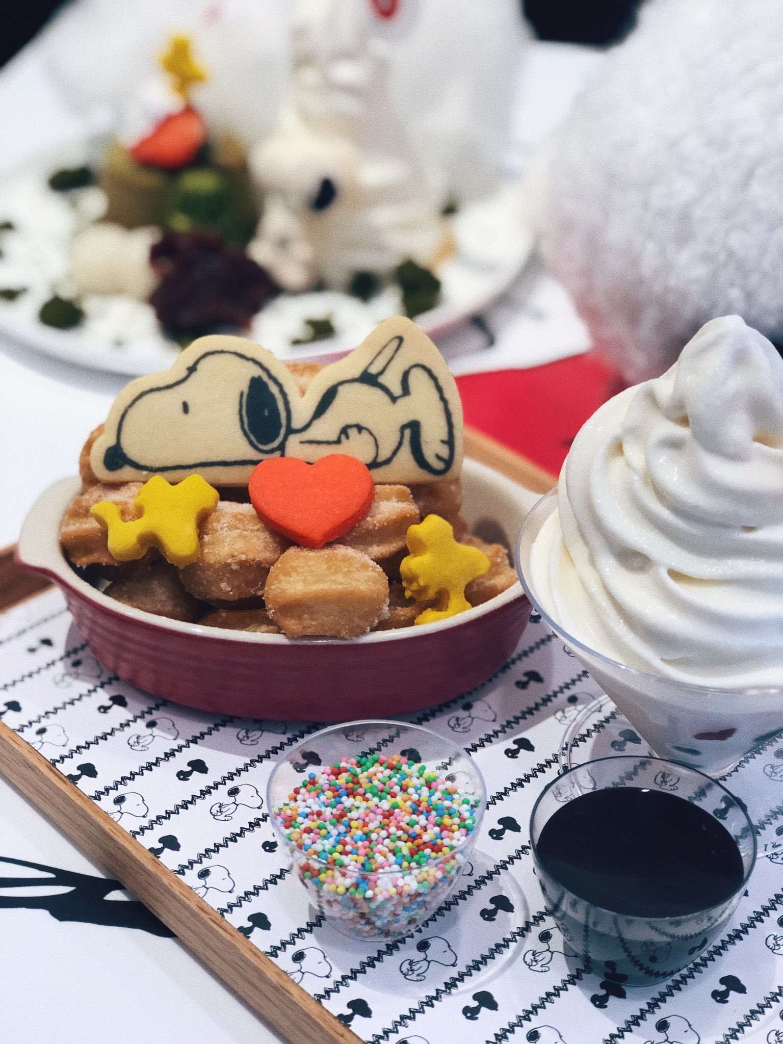 Chill Out With Snoopy Original Churro Balls With Fresh Fruits Parfait ($22.90)