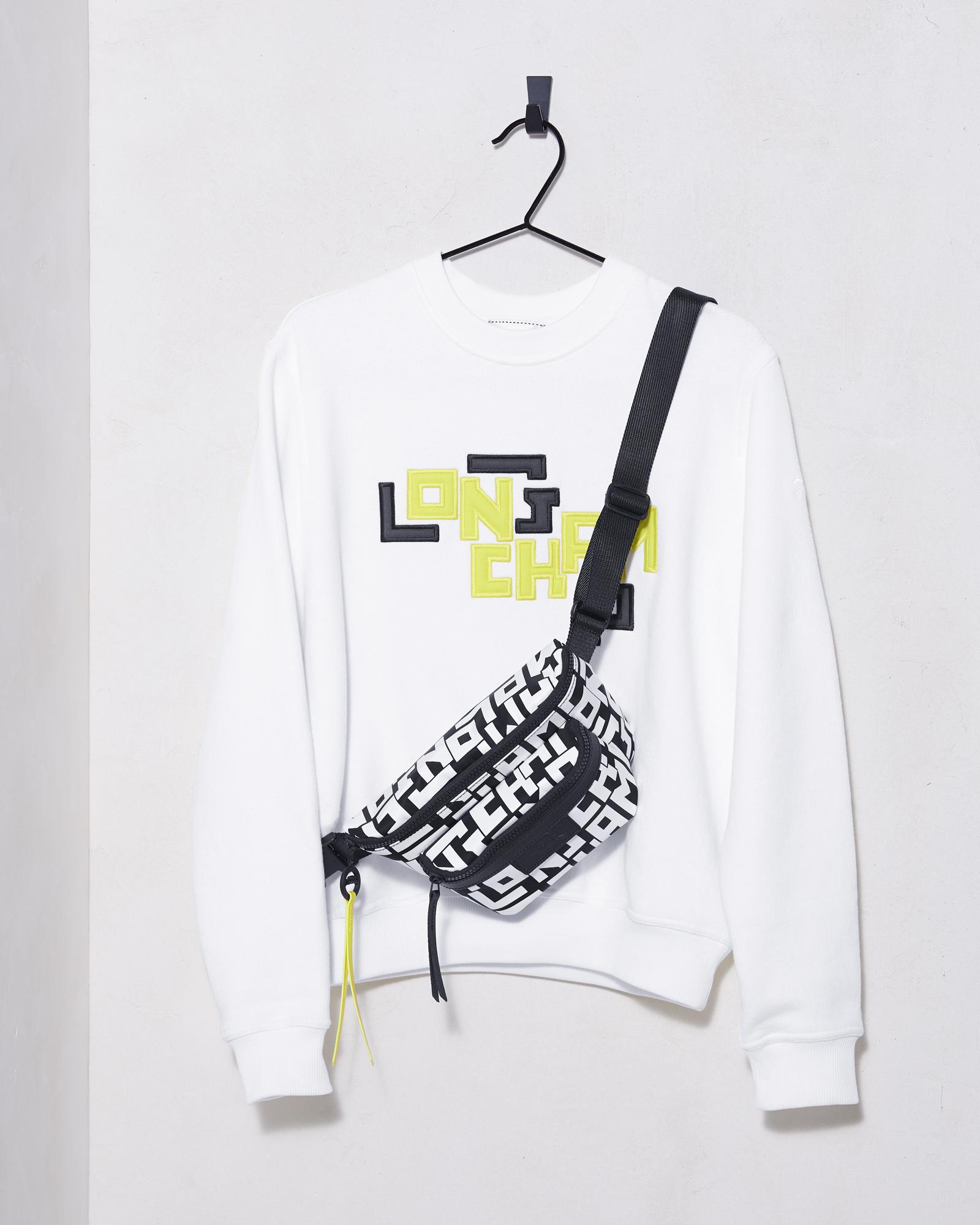 7985ca81 Le Pliage LGP Balt Bag S Black/White, $360 ; LGP Sweatshirt White,