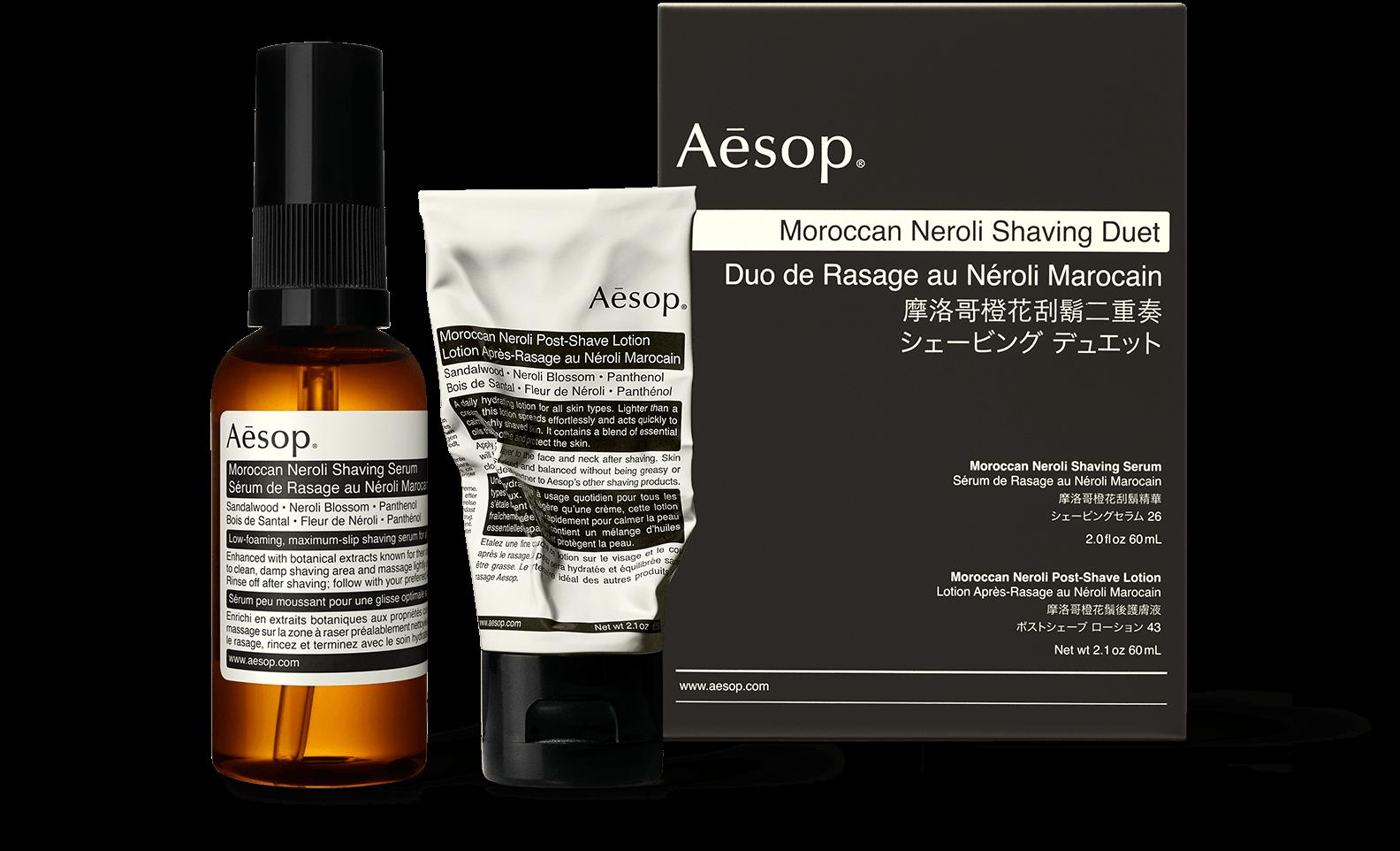 Aesop's Moroccan Neroli Shaving Duet, $110