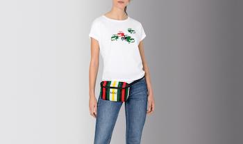 MINI Car Print T-Shirts withMINI Striped Belt Bag