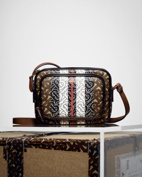 Monogram Stripe E-canvas Camera Bag, $1,520