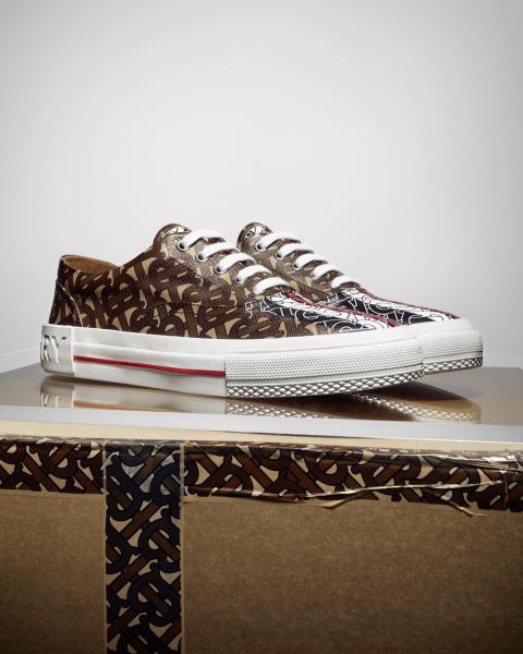 Monogram Stripe E-canvas Sneakers, $720